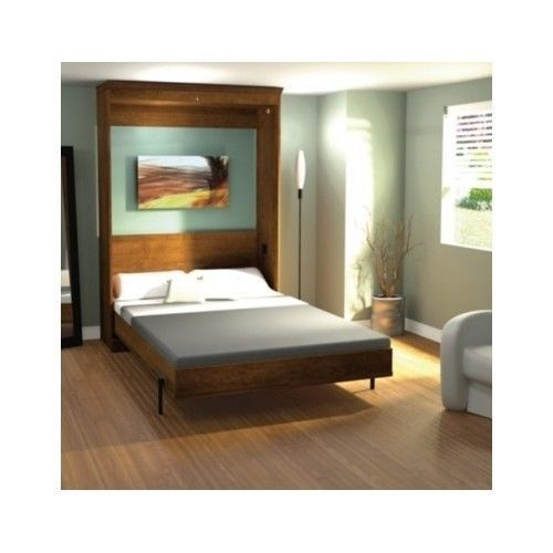 Full Wall Bed in Tuscany Murphy Bed Fold Up Double Space Saver Wood Full