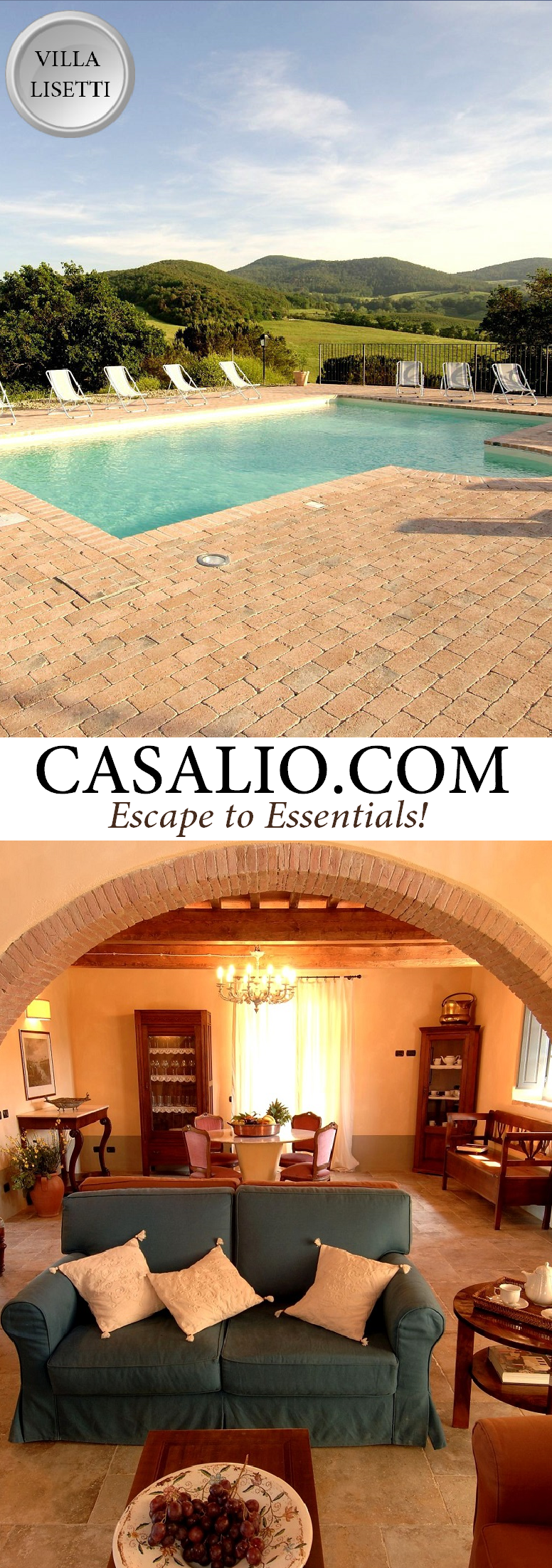 www.casalio.com || Villa Lisetti || Beautiful Villa located about 25 km distant from the sea, not so far from Cecina in Tuscany. It offers a magnificent panoramic view of the surrounding hills, a – if wanted also heated - swimming pool and all necessary comforts fot its 12 guests.#Luxury #Villa #Italy #Travel #LuxuryLife #LuxuryLifeStyle #LuxuryTravel #Tuscany #Pisa #Italy #Luxuryliving #villaLisetti (Pinned by #Casalio - www.casalio.com) Our travel blog - www.casaliotravel.com