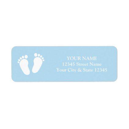Custom Cute Baby Shower Return Address