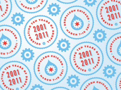DrupalCon Chicago 2Color pattern Pattern, Linkedin