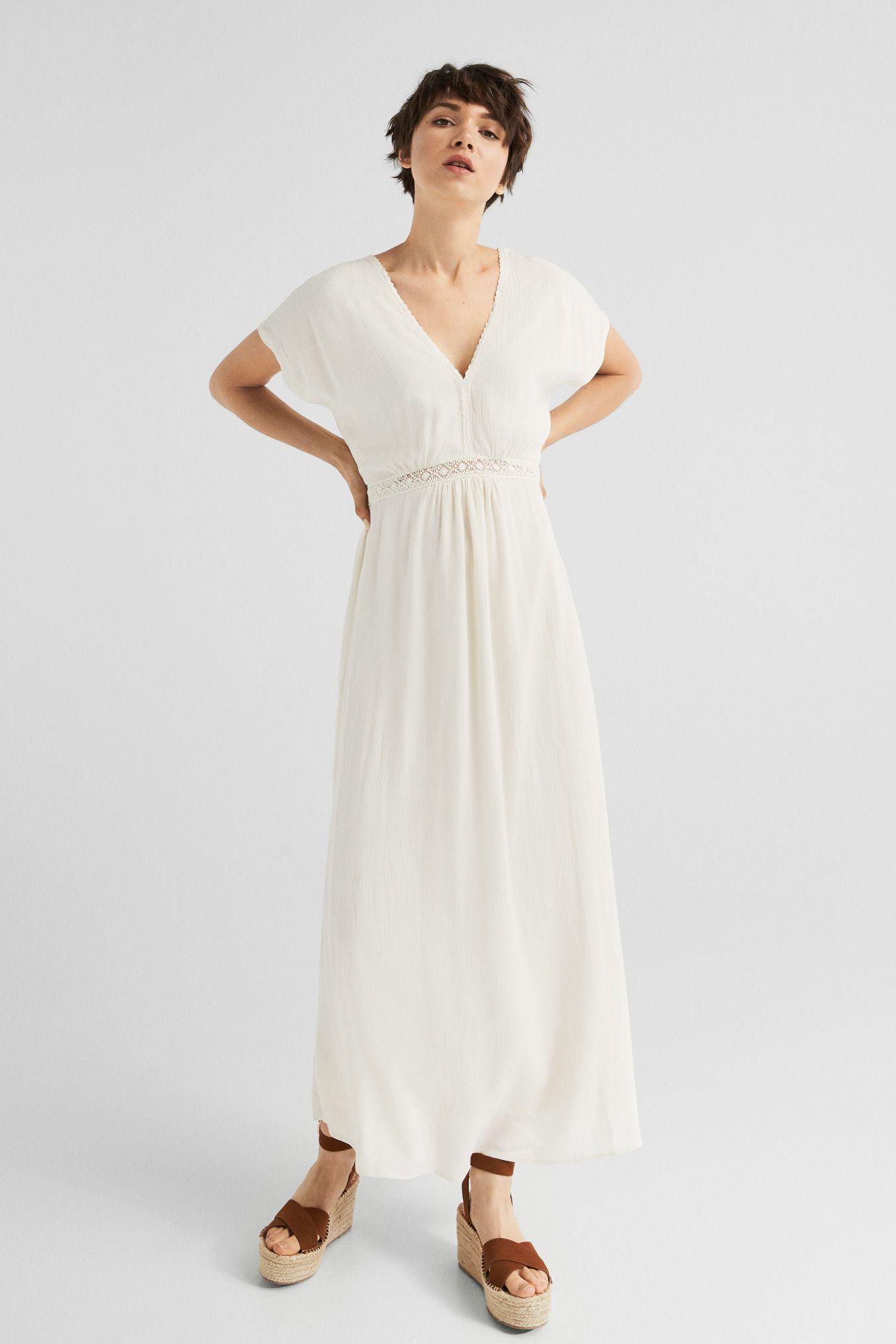 diversos estilos último estilo grandes variedades Vestido largo bambula | Vestidos | Springfield | COSTURA en ...