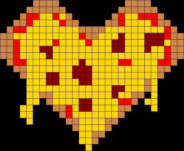 Pizza Heart Perler Bead Pattern Bead Sprite Charlottes