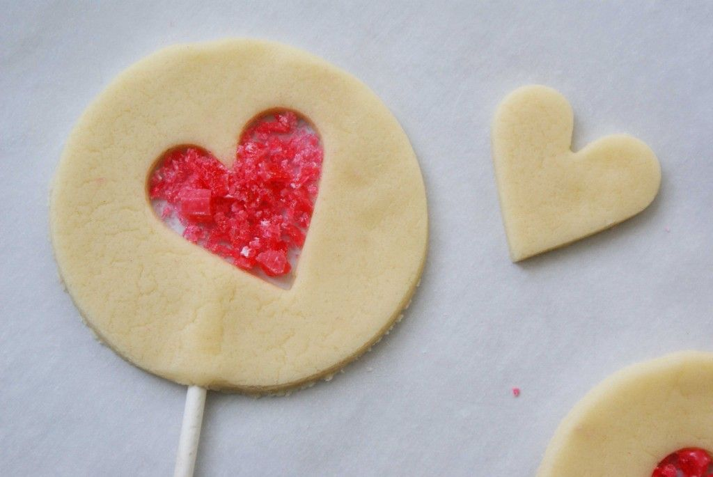 Stained Glass Sugar Cookies Valentines Day