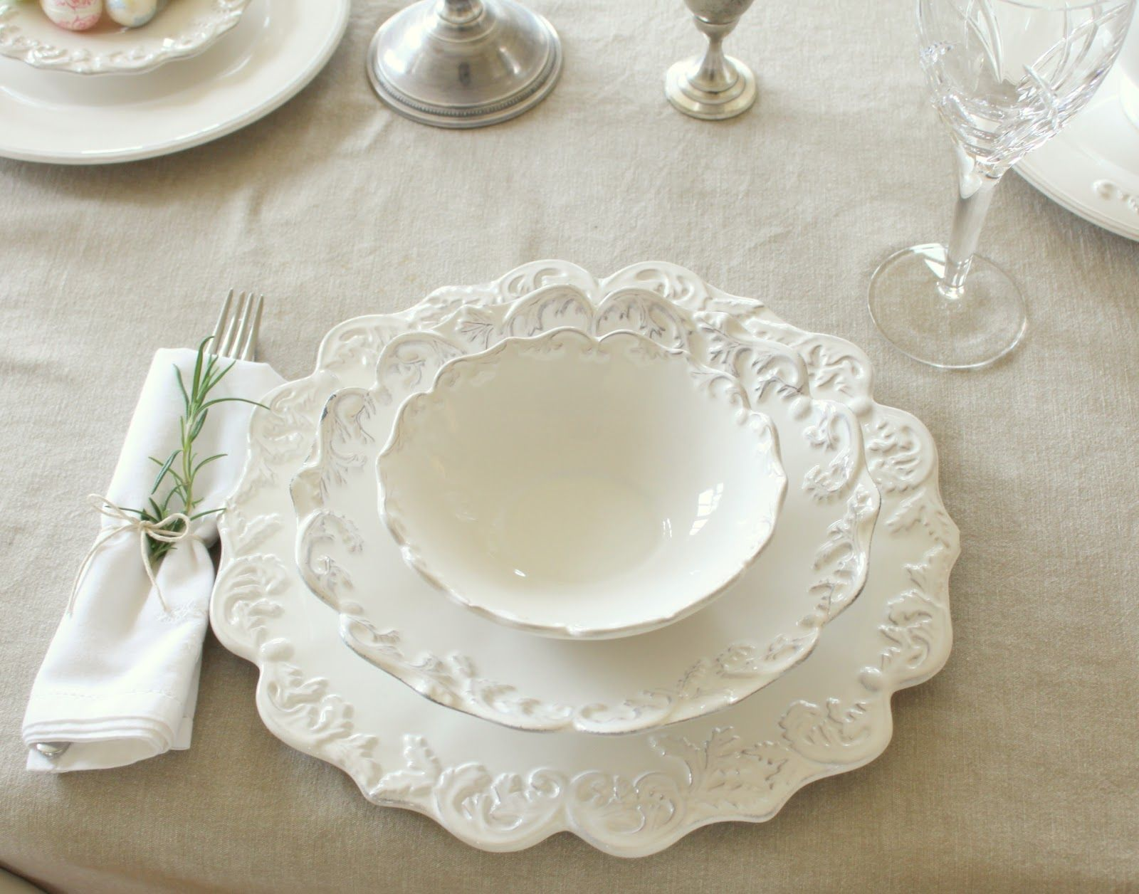french country dinnerware | We set up a little drinks ...