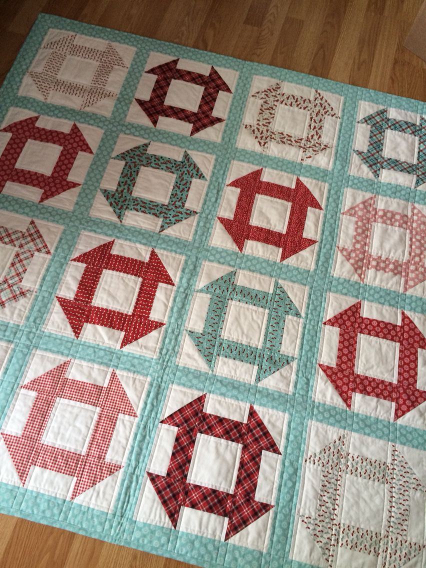 Sweetwater Feed Company Churn Dash Quilt Quilting
