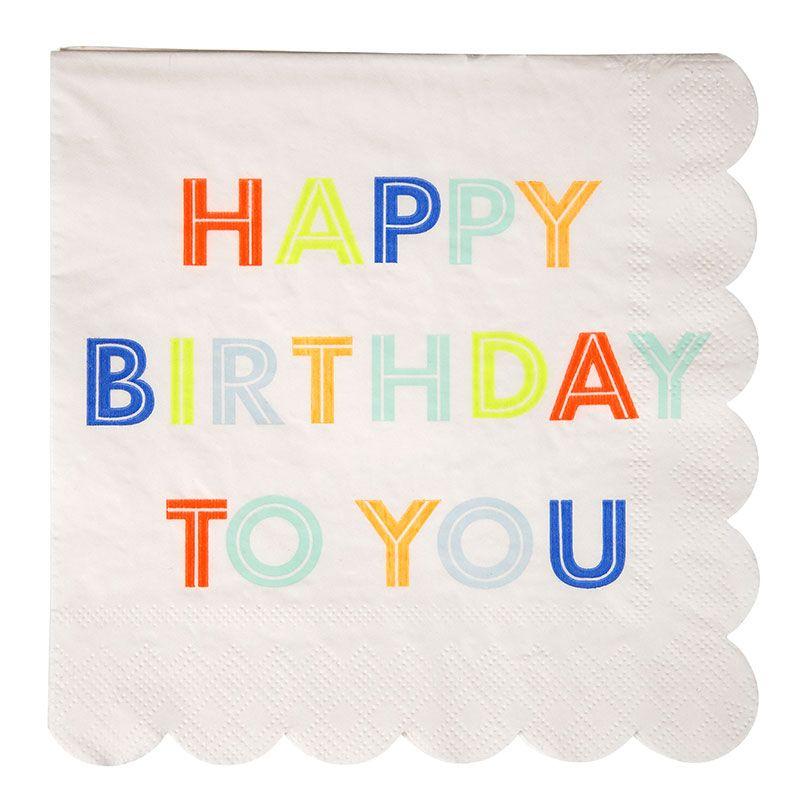 Süße Servietten im Happy Birthday Style passend zu jeder ...