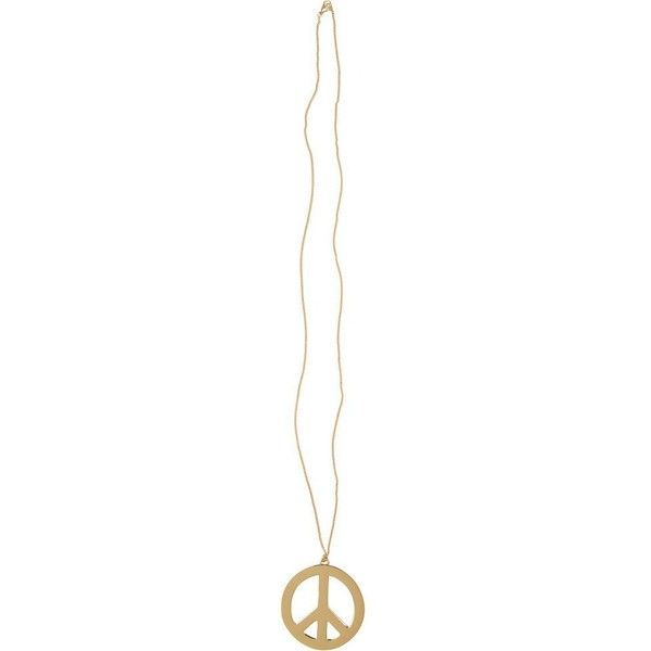 River Island Gold tone peace sign long necklace (£2) ❤ liked on Polyvore featuring jewelry, necklaces, accessories, river island, colares, peace jewelry, peace necklace, long pendant and long necklaces