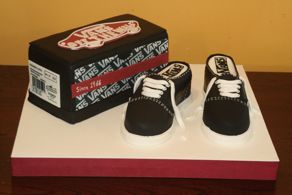 vans shoe birthday cake