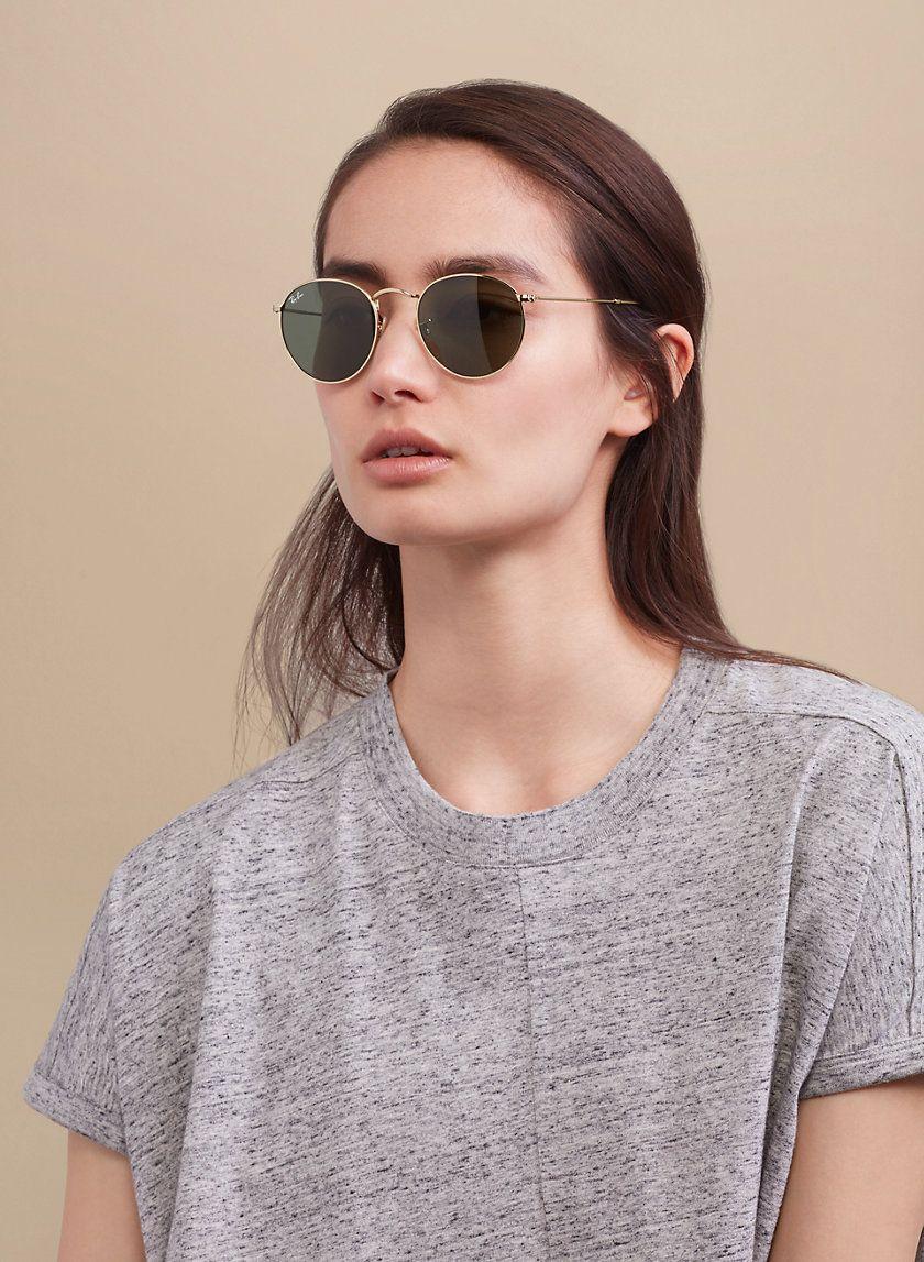 Ray Ban Round Metal Classic Retro Gold Metal Frame Sunglasses Classic Sunglasses
