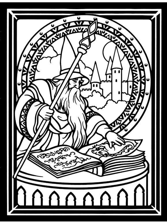 Fantasy by Bree Youngs (With images)   Coloring pages ...