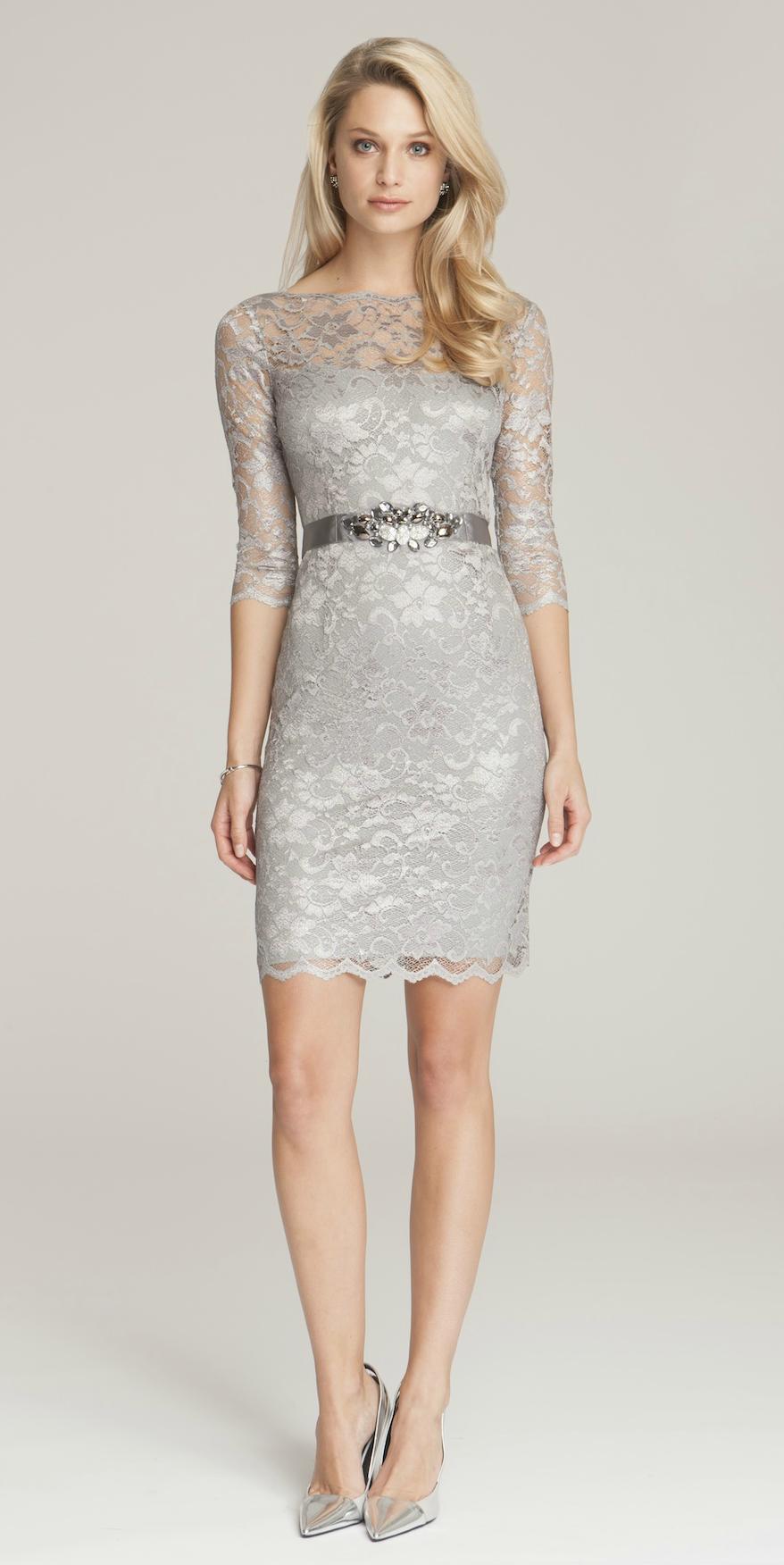Silver dresses cocktail dresses