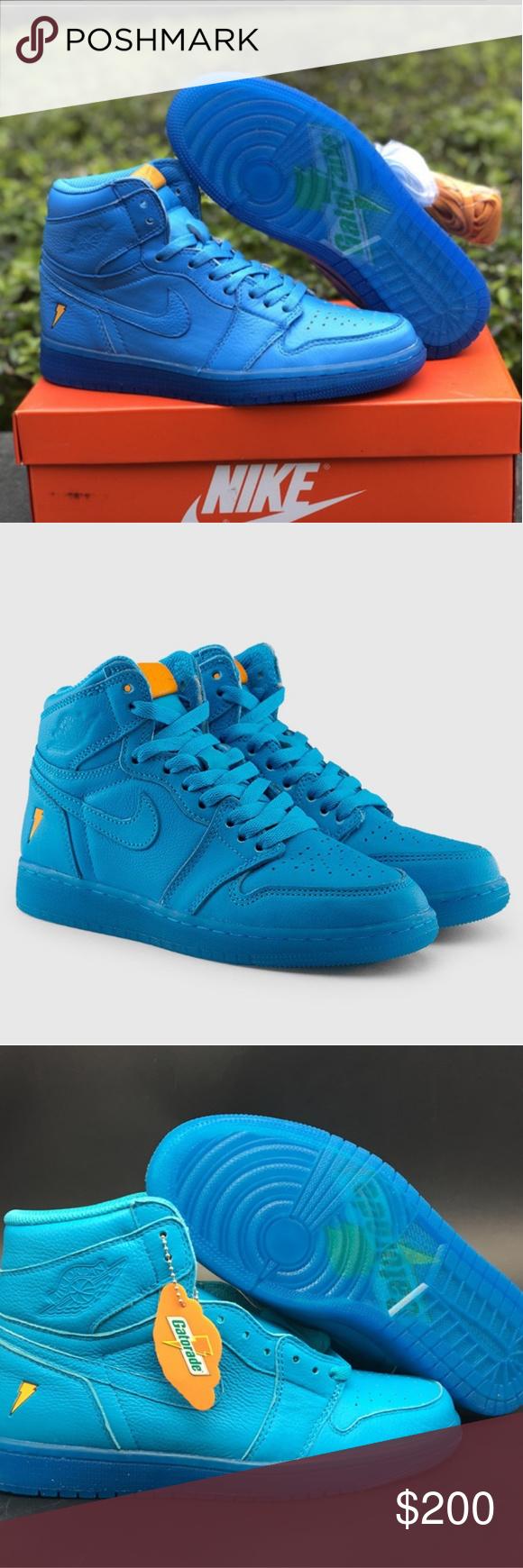 Nike Jordan Retro 1 Gatorade Nike. Jordan s High top Retro 1. Gatorade  Limited Edition f6c47bd30