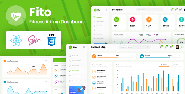 Fito Fitness Admin React Dashboard Template In 2021 Dashboard Template Timeline Design Templates