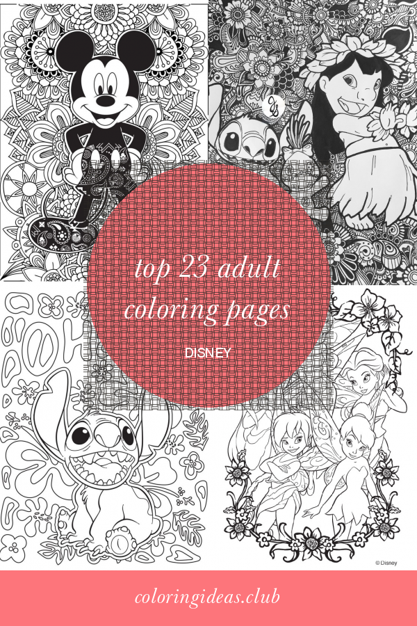 Top 23 Adult Coloring Pages Disney