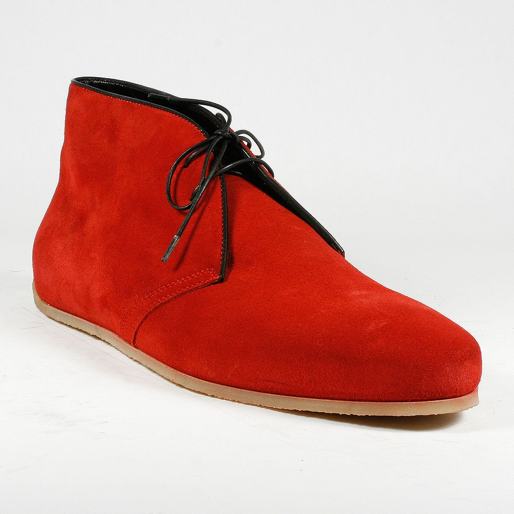 Cesare Paciotti Men Shoes Camoscio Red Suede Ankle Boots (CPM2268 ...