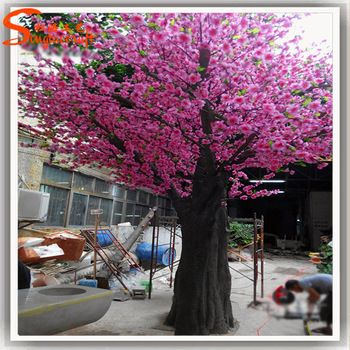 Http Www Alibaba Com Product Detail St Cr31 Dark Pink Cherry Flower 60606104817 Html Unique Trees Cherry Flower Artificial Cherry Blossom Tree