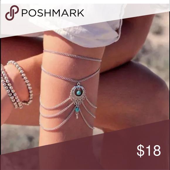 Boho upper arm cuff charm Unused adjustable no trades Jewelry Bracelets