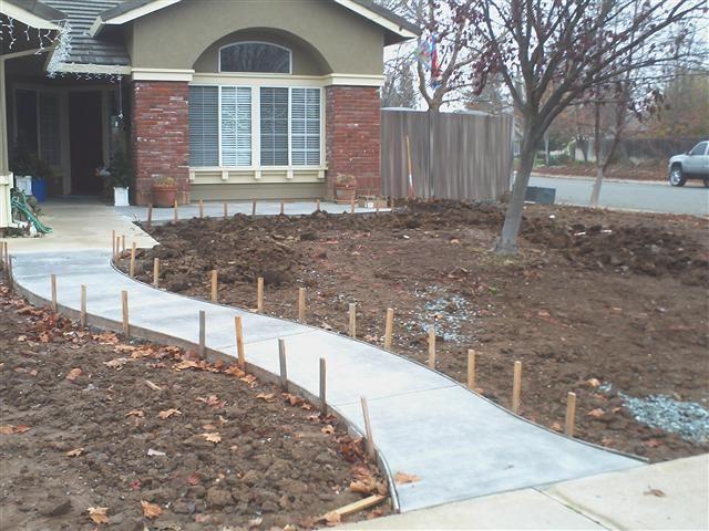 Concrete walkways ideas concrete slabs concrete foundation poured in place walls for the - Slab pathway design ideas ...