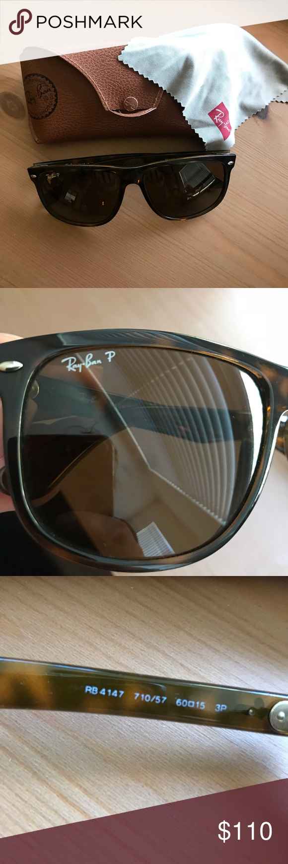 dfa976c489 Oversized Wayfarer Ray Bans -Polarized Hardly ever worn oversized polarized  Sunglasses. Comes with cleaning