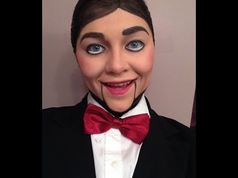 Ventriloquist Dummy Creepy Doll Makeup Tutorial - YouTube ...