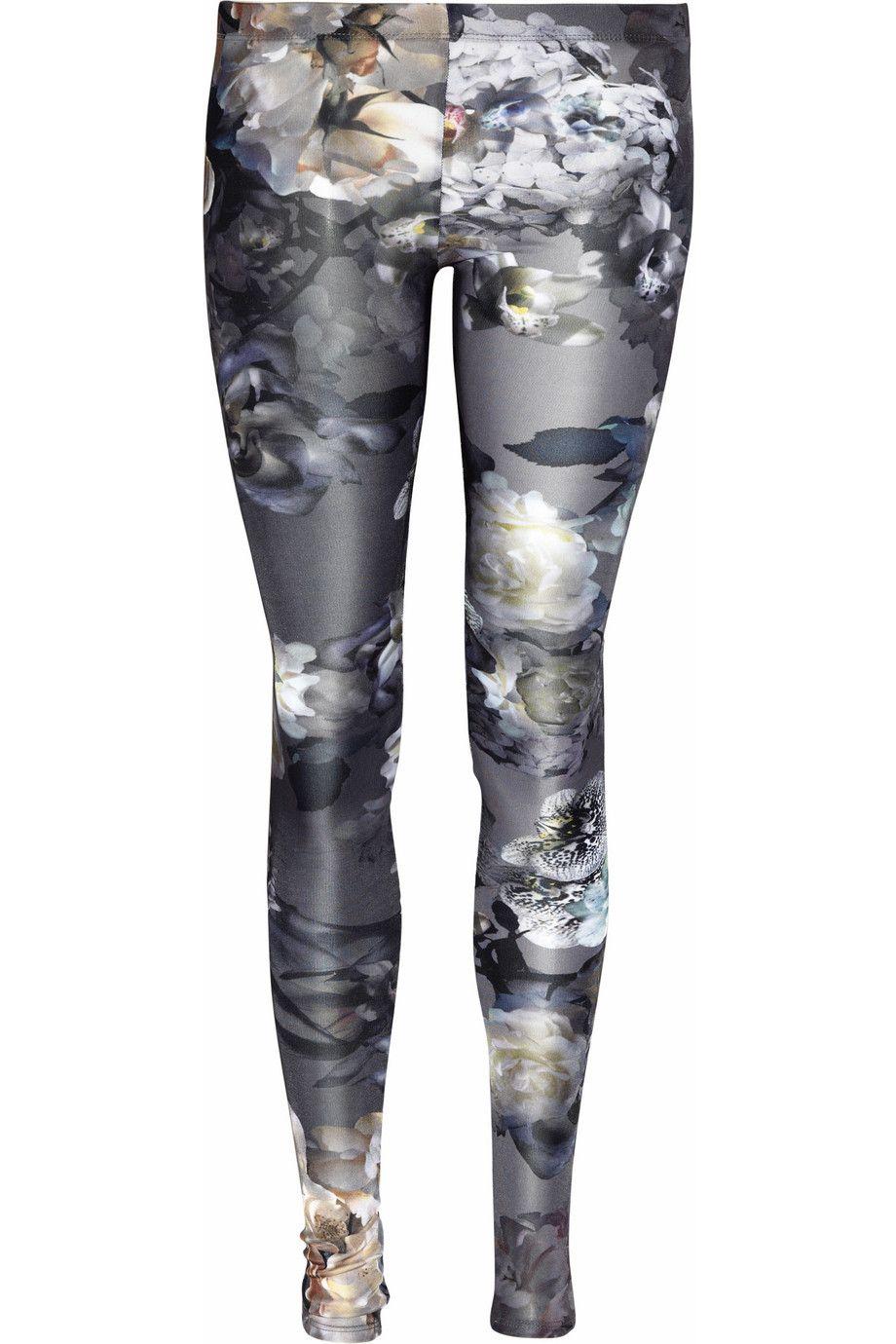 Floral-print jersey leggings