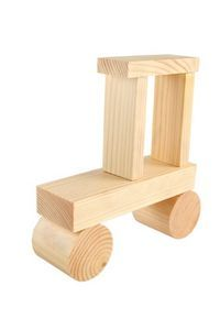 natural wood finish for DIY wood baby toys