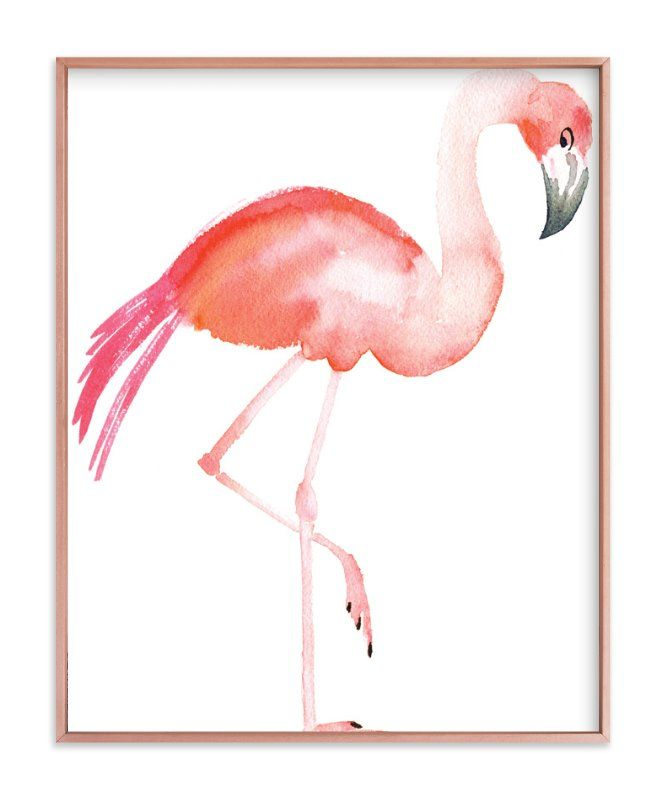 """Flamingo Road"" - Painting Limited Edition Art Print by Smudge Design."