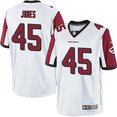 1a786853b1f Men s Nike Atlanta Falcons  45 Deion Jones Limited White NFL Jersey ...