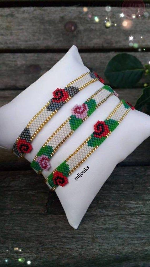 Miyuki Flower Bracelet