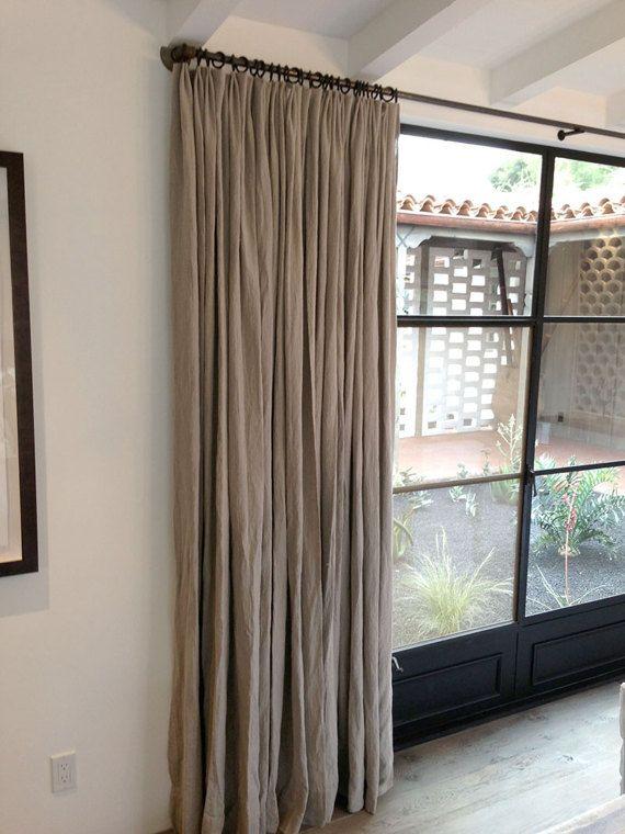 Pincée de pli Lin Lin 52 lin rideaux panneaux - chambre à coucher - faire une chambre dans un salon