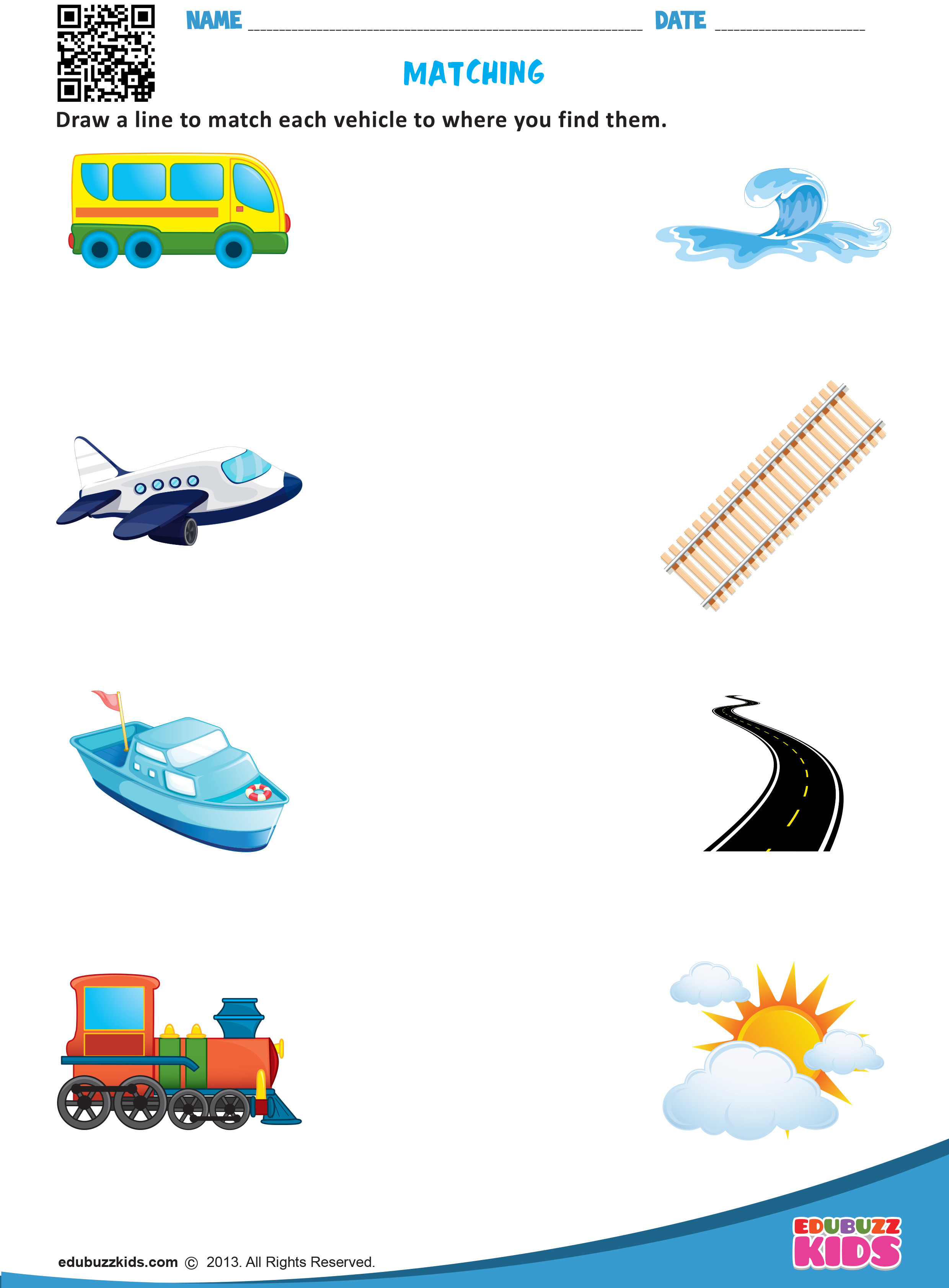 Kindergarten Transportation Worksheets That Allow Kids To