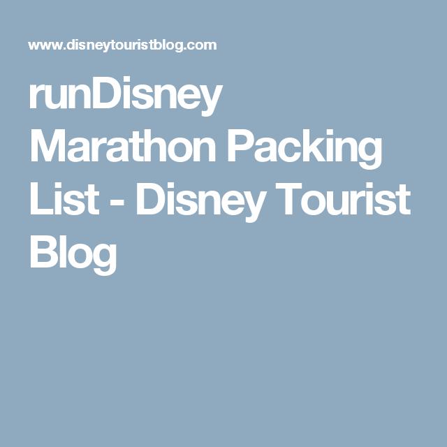 runDisney Marathon Packing List - Disney Tourist Blog ...