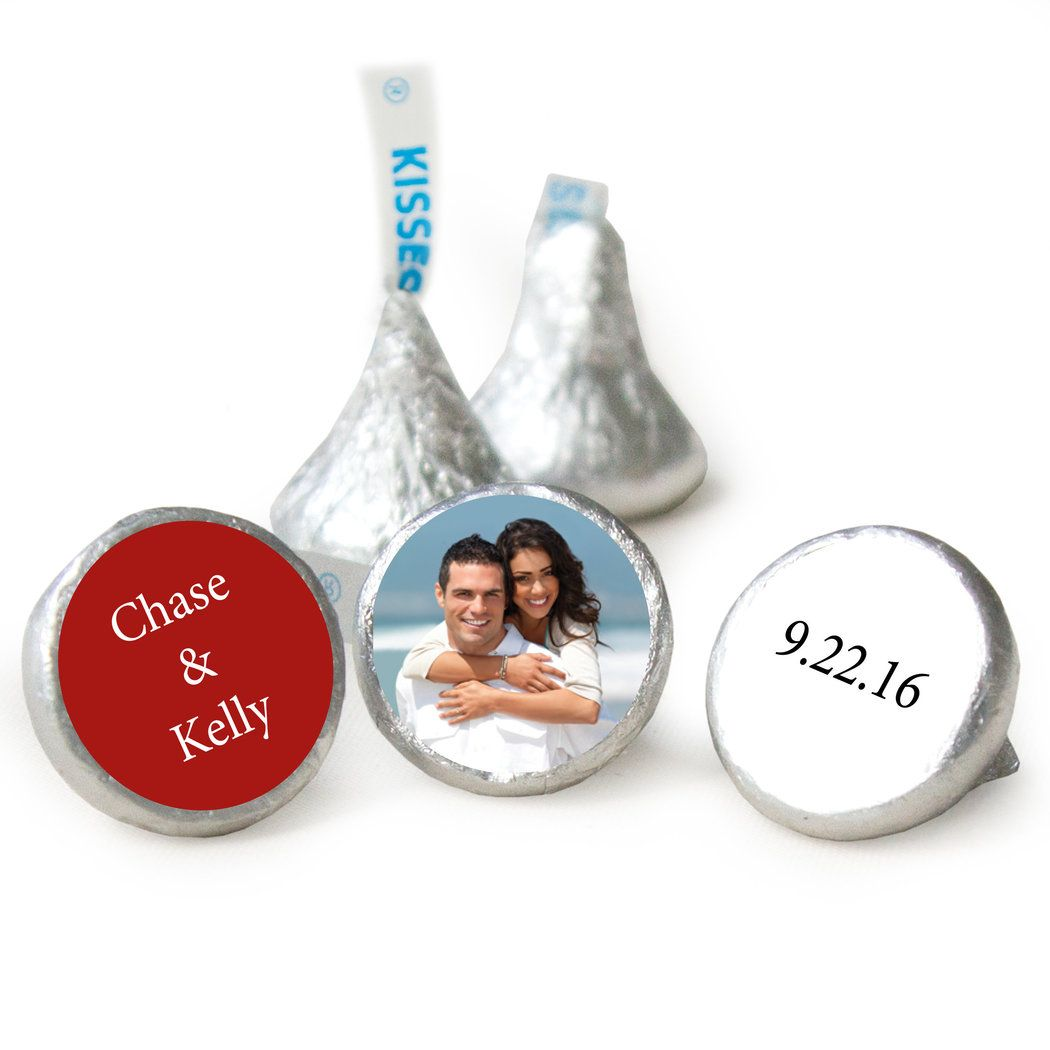 Add Your Photo Wedding HERSHEY\'S KISSES Candy Assembled | wedding ...