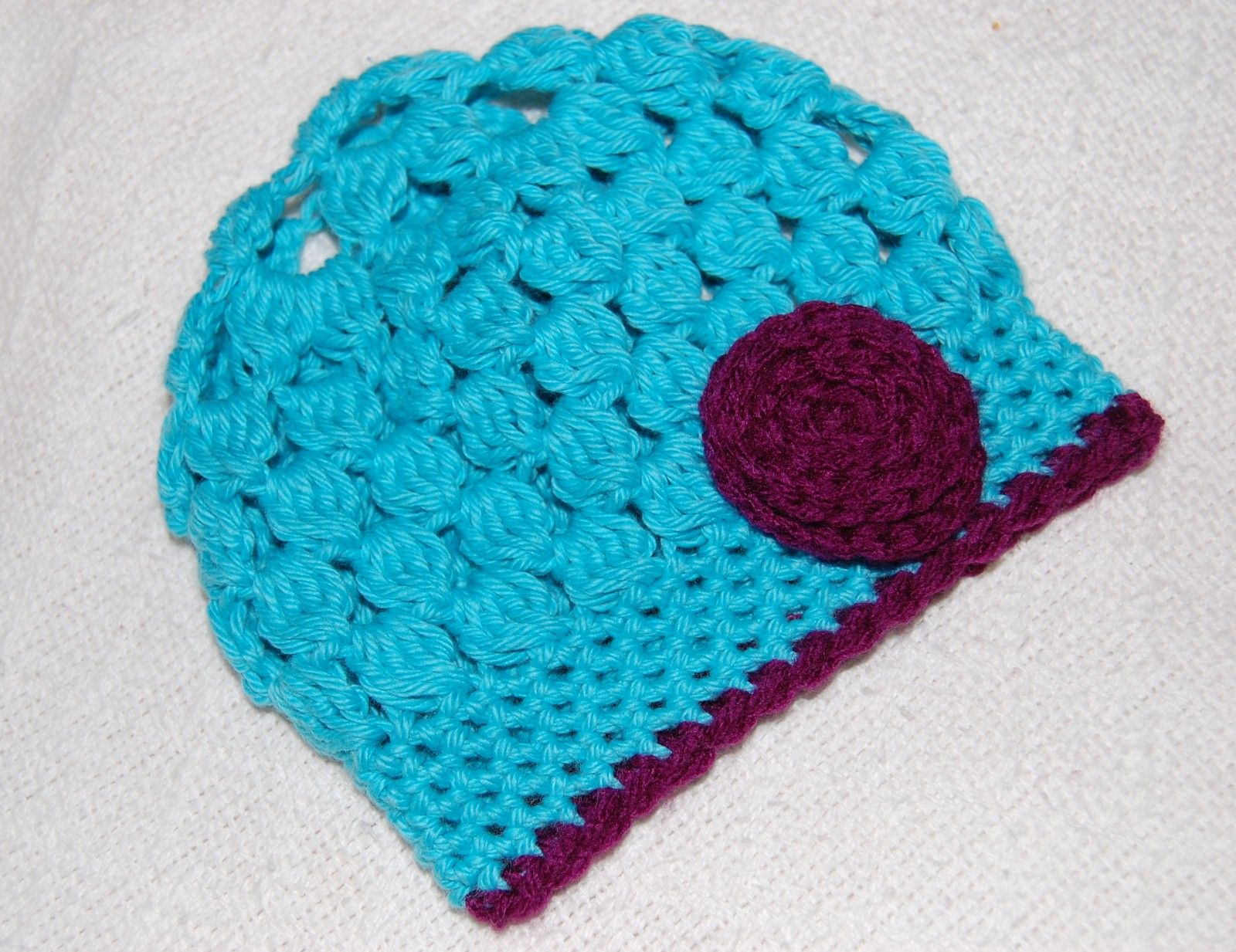 Lanie Hat in bright teal. 100% cotton.