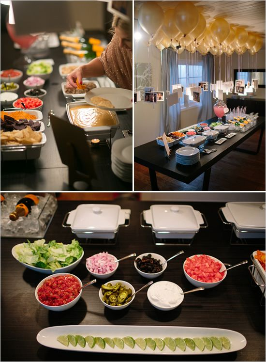 Glamorous Surprise Backyard Bridal Shower Food Wedding Food