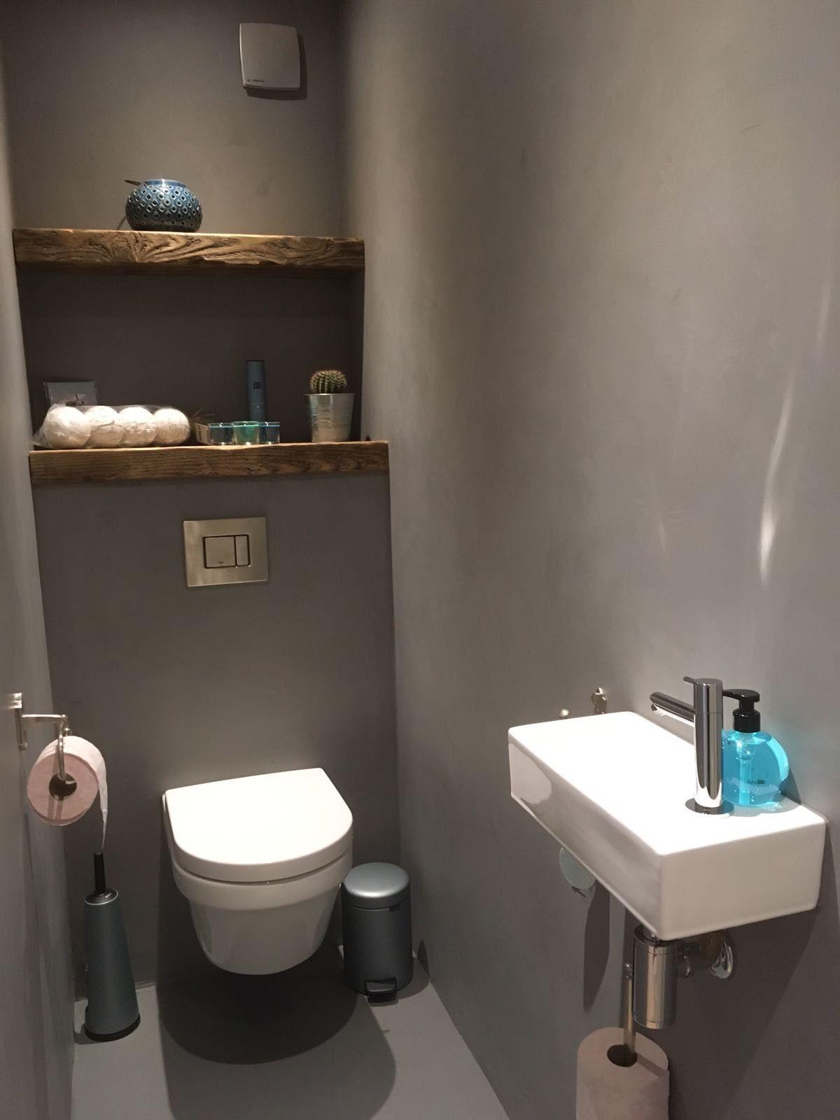 Betoncire Betonstuc Toilet Wc Steigerhout Deco In 2019