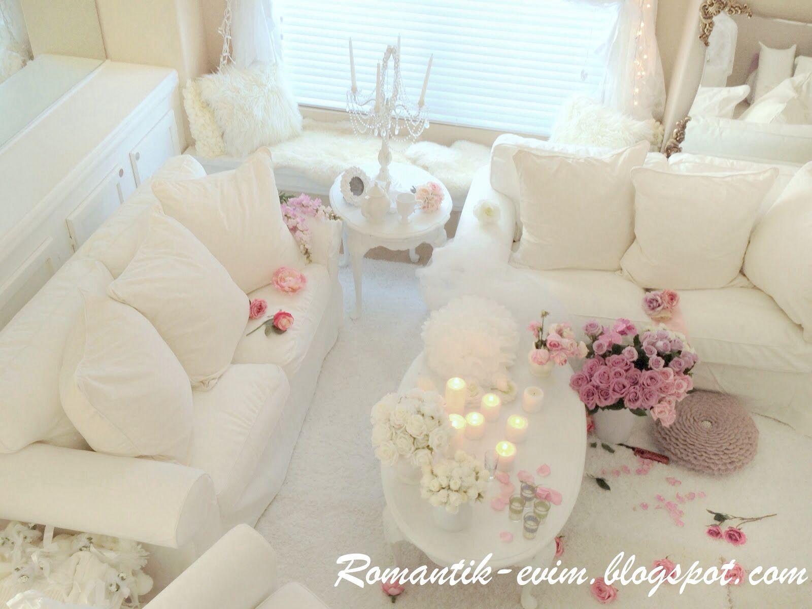 Romantisches Wohnzimmer ~ Beyaz ev dekorasyonu beyaz ev dekorasyonum beyaz evim pinterest