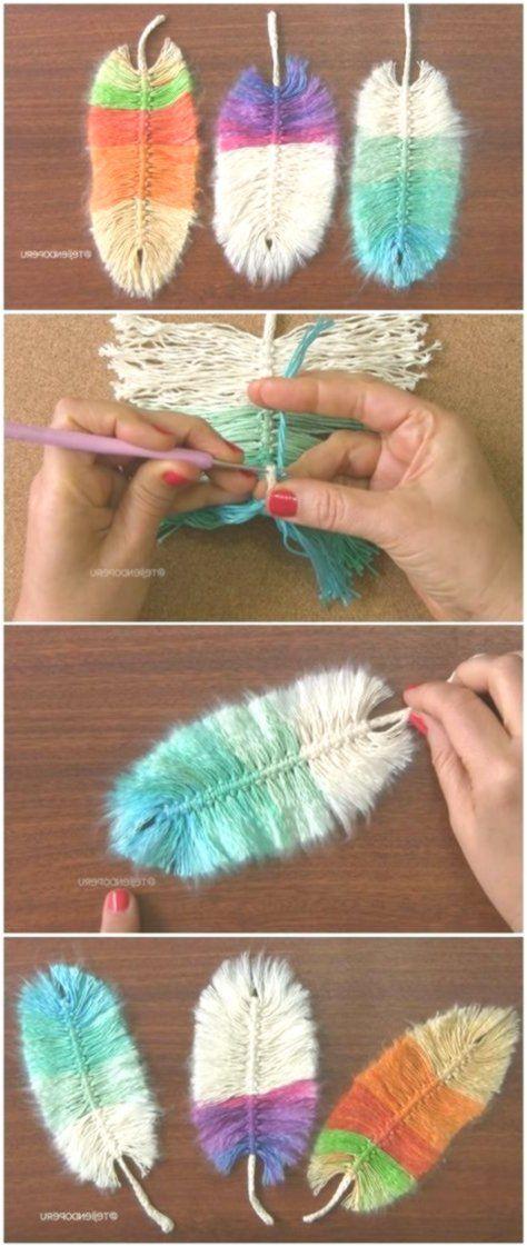 Idées de motifs de belles plumes au crochet #traumfängerbasteln