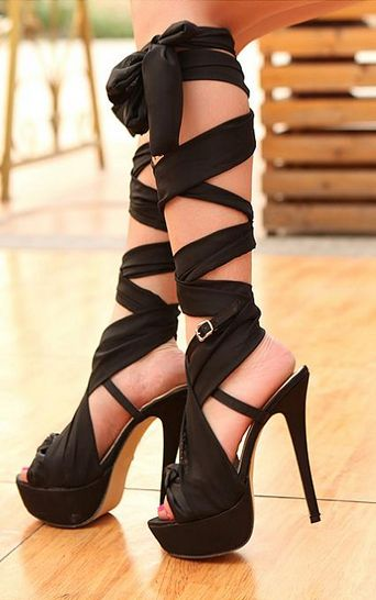 f3f40da4d Womens Sexy Strappy Ribbon Peep Toe Platform Stiletto Motorcycle Shoes  Sandals. Lace up ...