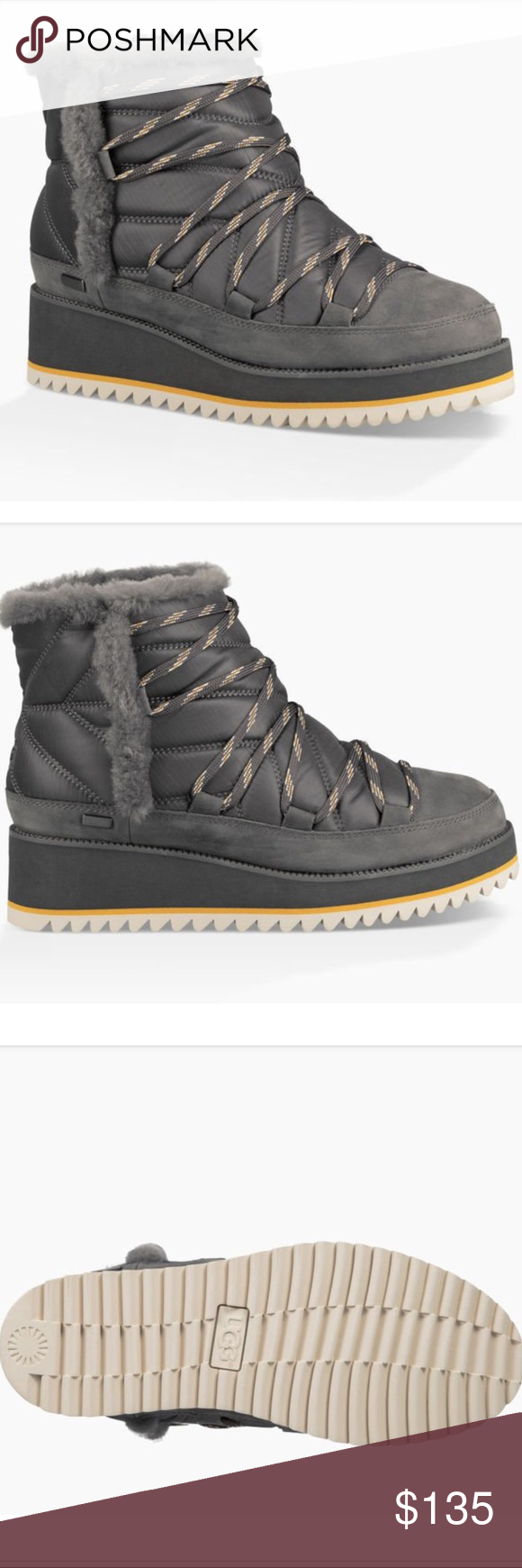 03ec006e5e8 Ugg Cayden Charcoal Gray Boots 🥾 The Cayden can withstand ...