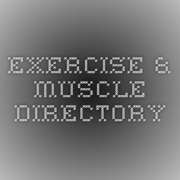 exercise muscle directory
