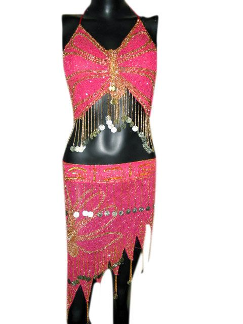 15bd40412272 Belly Dancing 152362: Women S Belly Dance Pink Halter Bra Choli Sequin Work  Hip Wrap Costume Set -> BUY IT NOW ONLY: $38 on eBay!