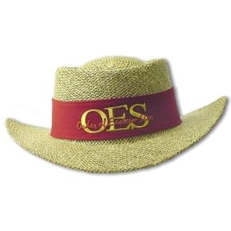 8ee1e66bd Straw Hat for Order of the Eastern Star | OES | Eastern star, Stars ...