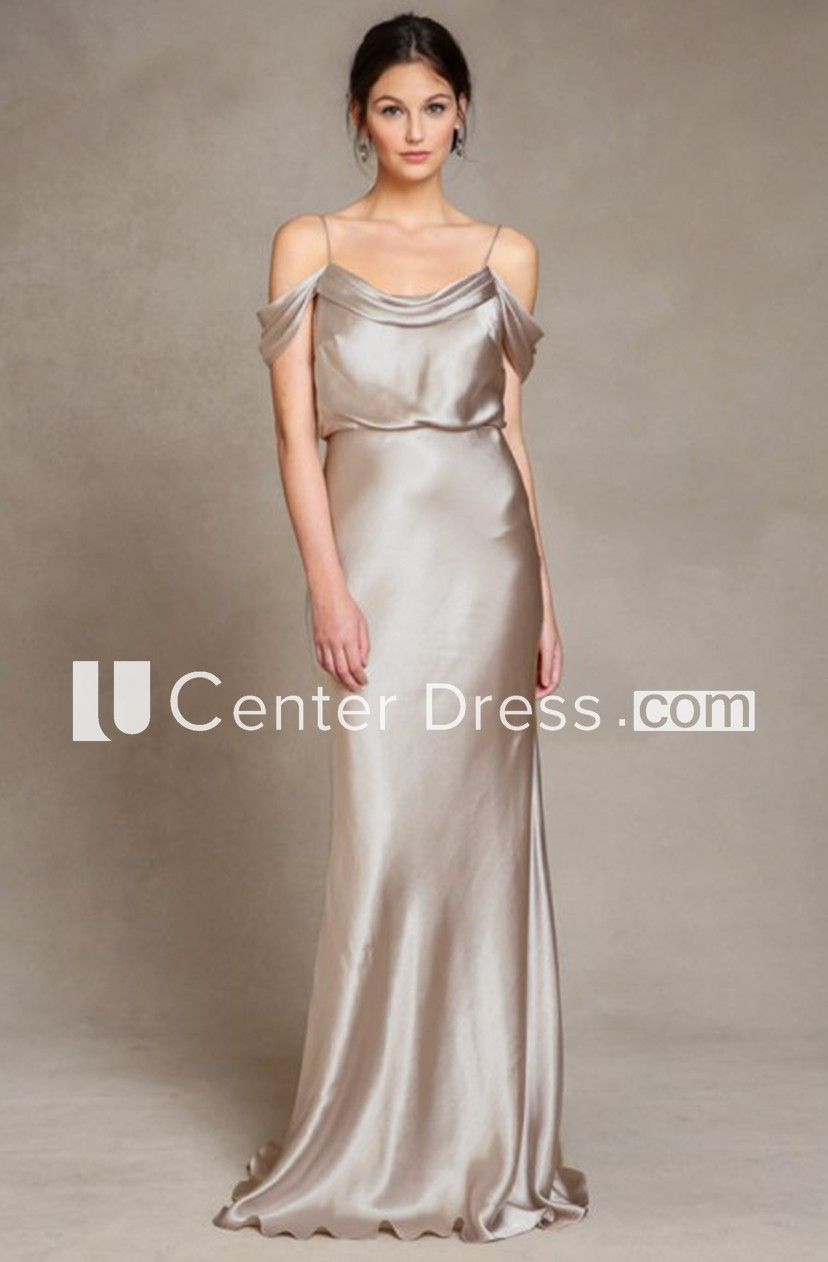 Sleeveless spaghetti satin bridesmaid dress with lowv back kebaya
