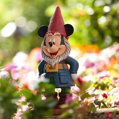 Mickey Mouse Garden Gnome Figure ... Mickey NEEDS to be in my garden ...