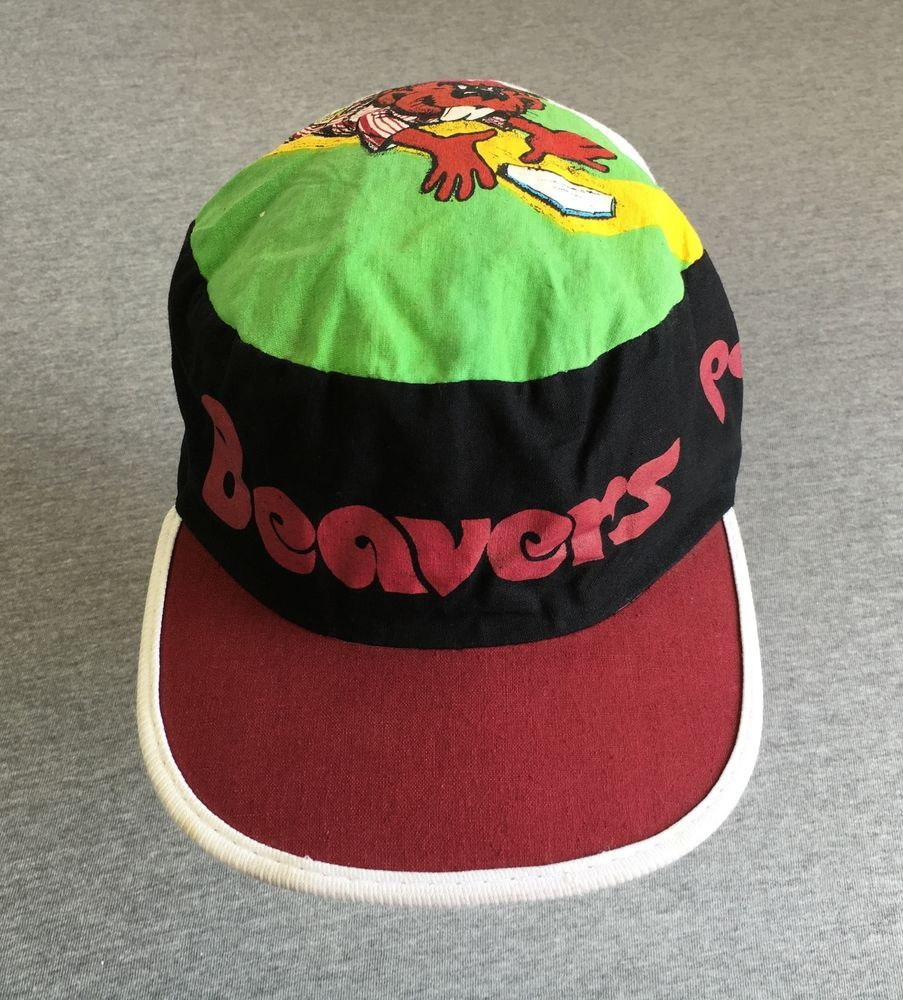 PORTLAND BEAVERS Painters Hat 80s Vtg Minor League Baseball Cap RARE!  Cartoon  Twins a5c12ef9257