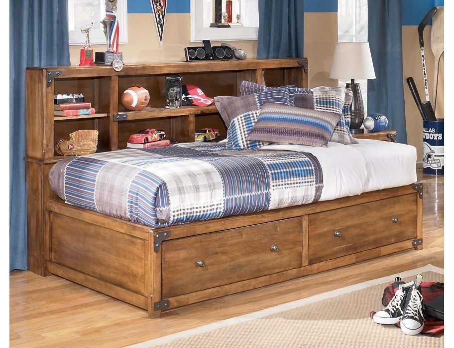 This Bed Bookshelf Combo Is Perfect For Small Spaces Kidsroom With Images Bookcase Bed Full Bed With Storage Bunk Beds With Stairs