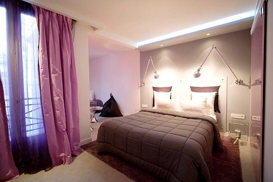 chambre-rose-pale-parme   appart   Pinterest   Chambre romantique ...