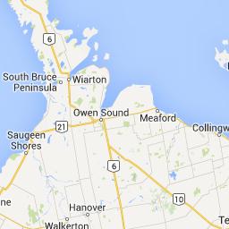 Map Of Port Elgin Ontario Canada Boating Georgian Bay   Google Maps | Port elgin, Hourly weather