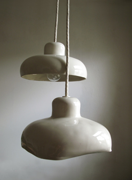 Ceramic light covers? Um, awesome. Miriam Aust (With images